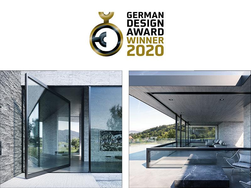 air-lux vítězí dvakrát: German design award ocenění pro klesající okna a pivotové dveře