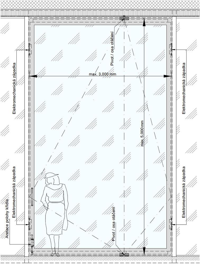 Pivotové vchodové dveře-Pohled - pivotové dveře